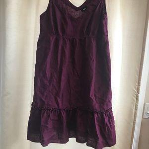 Women's xl plum sun dress